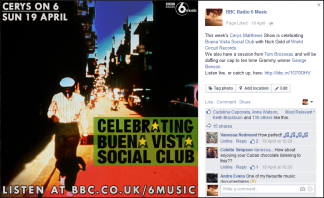 For Cerys On 6; Celebrating Buena Vista Social Club
