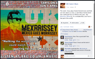 For Cerys On 6; Featuring a preview of La Linea and the love for Morrissey in Mexico