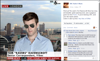 Vibe Reports for Tom Ravenscroft