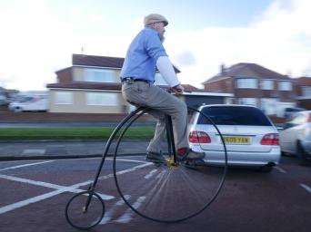 Ian Black, penny farthing rider, Tynemouth