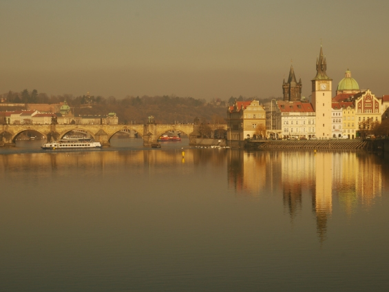 A Reflection of Prague's Vltava River