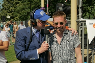Chris Evans and Ricky Wilson at the Royal Wedding in Windsor